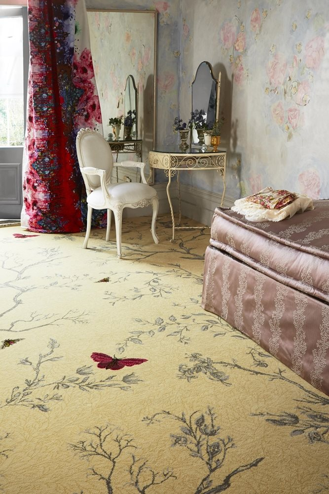 Brintons Carpets - Timorous Beasties, Yellow Ruskin Butterfly