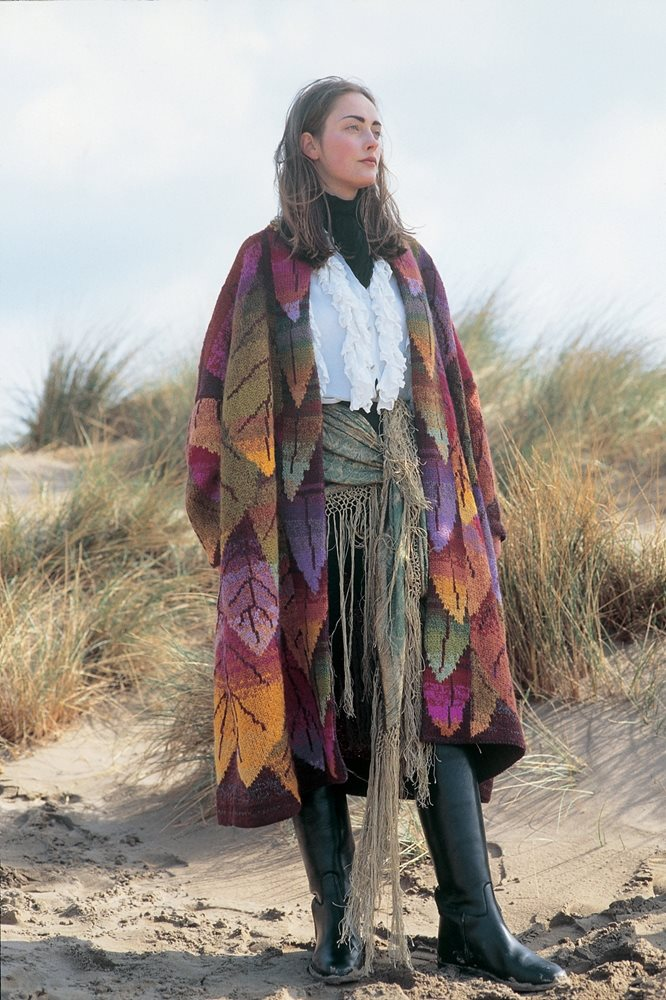 Kaffe Fassett's Long Leaf Coat - created using a variety of Rowan Yarns