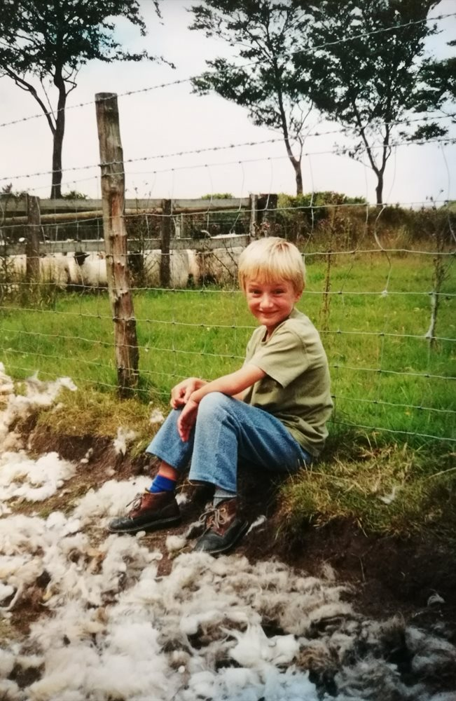 John's love of sheep began at a young age