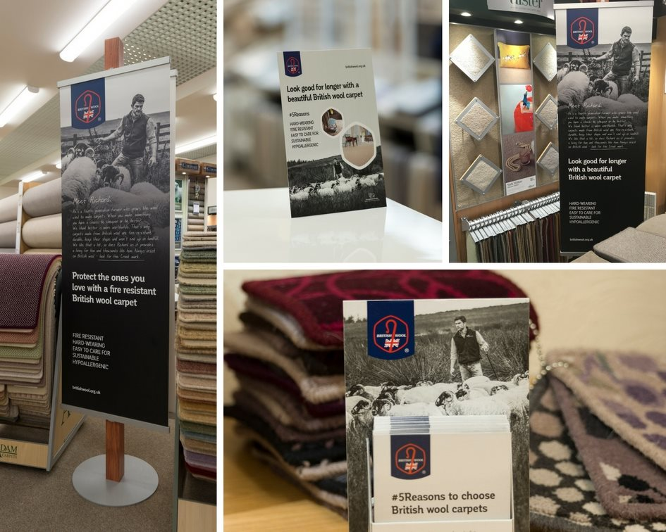 British Wool's range of in-store point of sale material